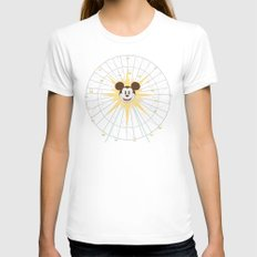 Ferris Wheel LARGE White Womens Fitted Tee