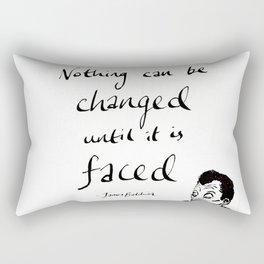 James Baldwin Motivational Quote Rectangular Pillow