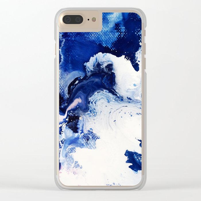 Riveting Abstract Watercolor Painting Clear iPhone Case