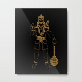 Hanuman - Hindu Gods Series Metal Print