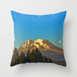 October Moonrise Throw Pillow