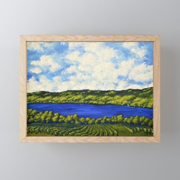 Seneca Lake by Mike Kraus - artwork finger lakes upstate ny rochester syracuse new york summer vines Framed Mini Art Print