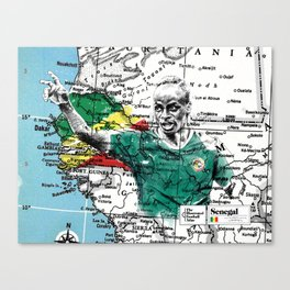 Senegal - the Football Atlas Canvas Print
