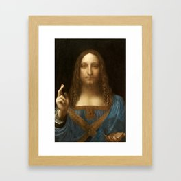 Salvator Mundi by Leonardo da Vinci Framed Art Print