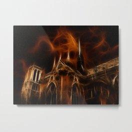 Notre-Dame Cathedral in Paris Metal Print