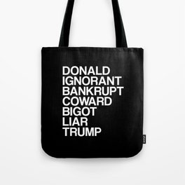 Trump List Tote Bag