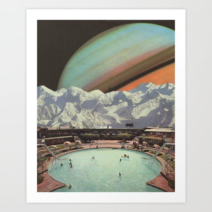 Saturn Spa Art Print