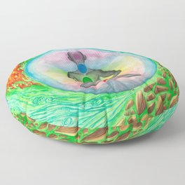 Elements and Chakras in Meditation Floor Pillow