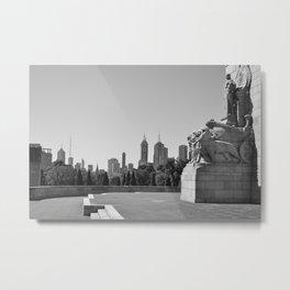 Melbourne monochrome xxiv Metal Print