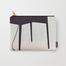 Minimal Table Pink Texture Carry-All Pouch