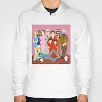 the royal tenenbaums Hoodies featuring Royal Tenenbaums Family Portrait  by AnaMF