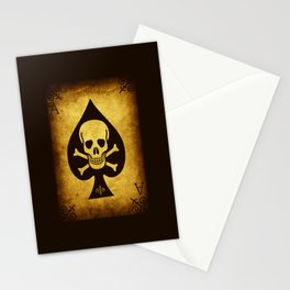 Death Card Ace Of Spades Stationery Cards