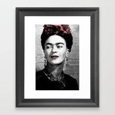 Halftone Frida Framed Art Print