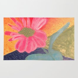 Mother's Day - Painting by young artist with Down syndrome Rug