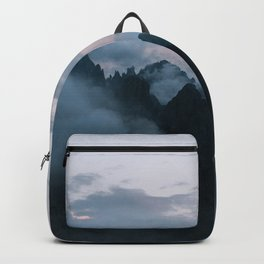Dolomite Mountains Sunset covered in Clouds - Landscape Photography Backpack