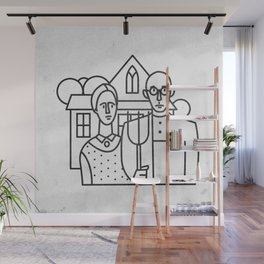 American Gothic Wall Mural