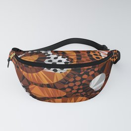 African Tribal Abstract Low Poly Geometric Triangles Fanny Pack