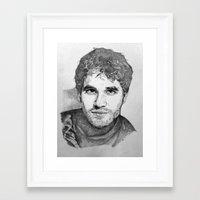 darren criss Framed Art Prints featuring Darren Criss by EleanorOrchard