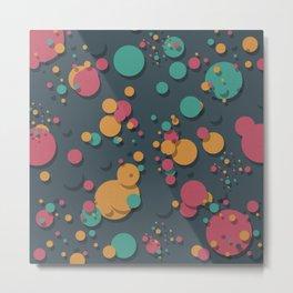 """Retro Colorful Polka Dots"" Metal Print"