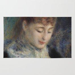 Woman Crocheting Rug
