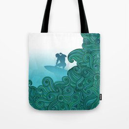 Surfer Dude Hangin Ten Tote Bag