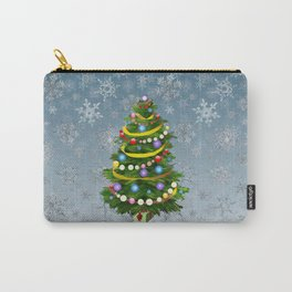 Christmas tree & snow Carry-All Pouch