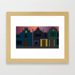 Alone at Sunset Framed Art Print