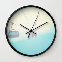 Chair Lift into the Light Wall Clock