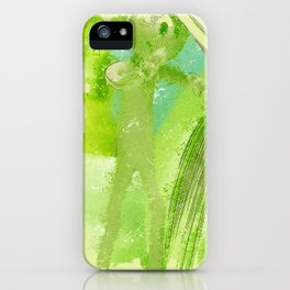 green Manikin iPhone Case
