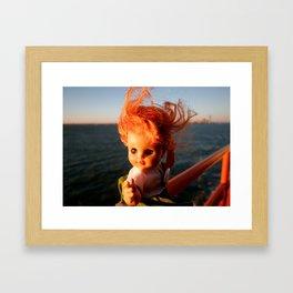 Ferry Girl Framed Art Print