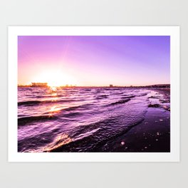 Mission Bay Riverboat Sunset in San Deigo, California Art Print