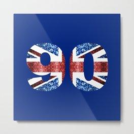 Sparkly flag of United Kingdom UK number 90 Metal Print
