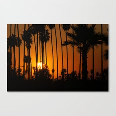 Striped Sunset Canvas Print
