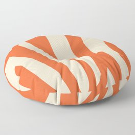 Coral in red Floor Pillow