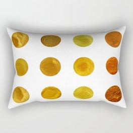 Yellow Pigments Rectangular Pillow