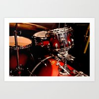 drums Art Prints featuring Drums  by Alice Mari
