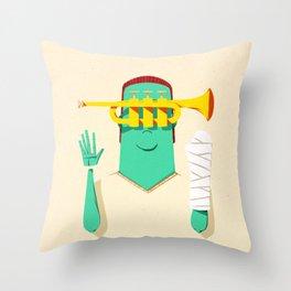 Trumpeter Broken Arm Throw Pillow