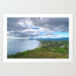 Killiney Hill in Dublin, Ireland Art Print