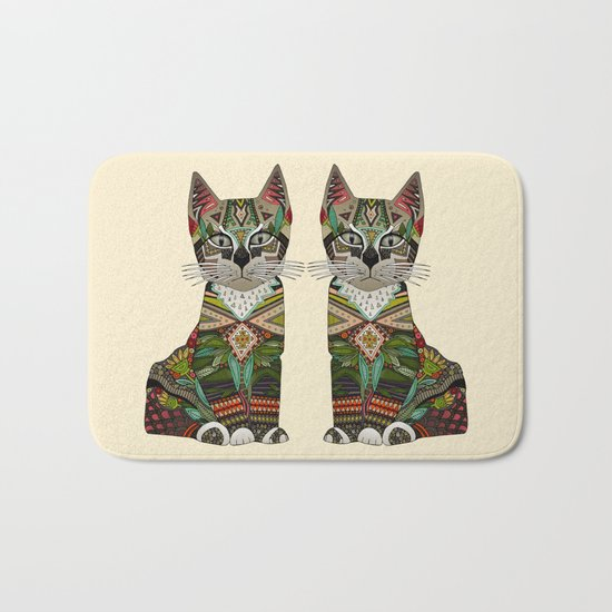 pixiebob kitten cream Bath Mat