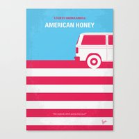 No786 My American Honey minimal movie poster Canvas Print