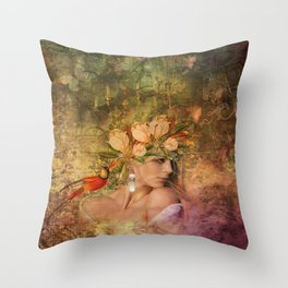 Ode to Carnevale Throw Pillow