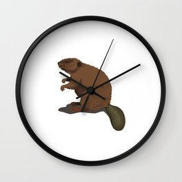 Are You A Beaver? 'Cuz Dam The Busy Beaver Shirt Wall Clock