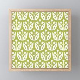 Mid Century Flower Pattern 5 Framed Mini Art Print