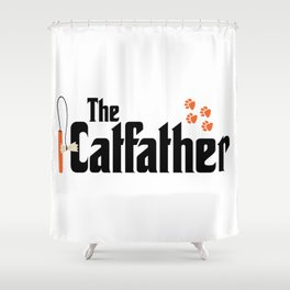 The Catfather - Cat Father Pussycat Meow Shower Curtain