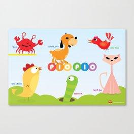 Dee O. Gee and the PIO PIO Gang. Canvas Print