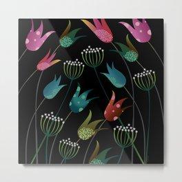 Tulips in the Night Metal Print