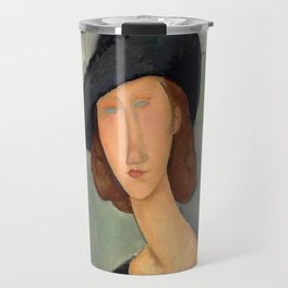 """Amedeo Modigliani """"Jeanne Hébuterne (Au chapeau)"""" Travel Mug"""