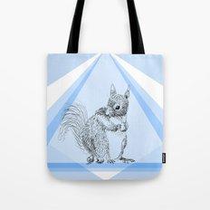 Squirrel stealing nuts Tote Bag
