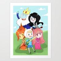 finn and jake Art Prints featuring Finn & Jake  by Rikku Hanari