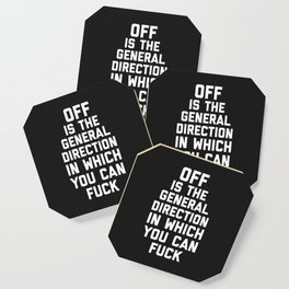 General Direction Funny Quote Coaster
